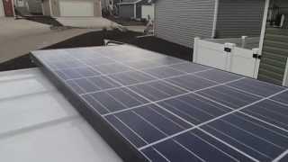 getlinkyoutube.com-SOLAR solar panel, SOLAR SYSTEM installation in A VAN Living off the GRID