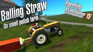getlinkyoutube.com-Baling straw - small bales on small farm - Ursus - belowania