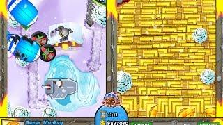 getlinkyoutube.com-Bloons TD Battles - Hacker vs. Hacker - MEGA BOOST 100+ SUN GOD TEMPLES!!! &25 hf4hs
