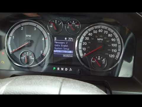 Reset oil light on 2012 Dodge Ram 3500 Crew Cab 4wd Laramie Diesel