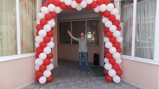 getlinkyoutube.com-КАК СДЕЛАТЬ ДВУХЦВЕТНУЮ АРКУ ИЗ ВОЗДУШНЫХ ШАРОВ How To Make A Balloon Arch Without Helium