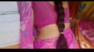getlinkyoutube.com-YOUNG BOY WITH PINK SAREE AUNTY