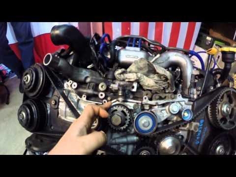 Установка ГРМ на моторах Субару (EJ206-208, EJ205-207) Subaru Legacy ... 2002