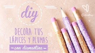 getlinkyoutube.com-Decora tus lápices y plumas con diamantina - DIY / Valcrafting