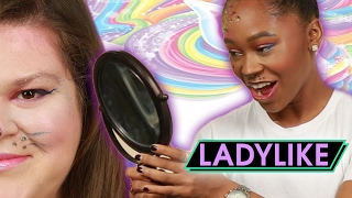 Women Try Lisa Frank-Inspired Makeup • Ladylike