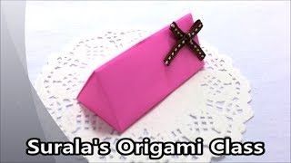 getlinkyoutube.com-Origami - Triangle (prism) Box / 종이접기 - 삼각형 상자