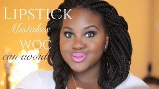 getlinkyoutube.com-Lipstick Mistakes WOC (dark skinned women) can avoid!