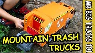 getlinkyoutube.com-TRASH & GARBAGE TRUCKS MOUNTAIN CLEANING FOR KIDS: MrBigTrucks101