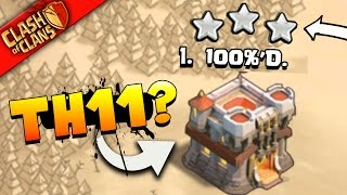 "getlinkyoutube.com-Clash of Clans: ""THEY GOT 100%'d!"" TH11 vs TH11... WAR INSANITY!"