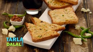 getlinkyoutube.com-Chilli Cheese Toast, Recipe in Hindi (चिल्ली चीज टोस्ट) by Tarla Dalal