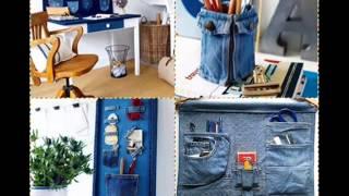 getlinkyoutube.com-Универсальные органайзеры из старых джинсов своими руками