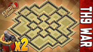getlinkyoutube.com-WAR BASE TH9 #10 | DOUBLE AIR SWEEPER | NEW SUMMER UPDATE