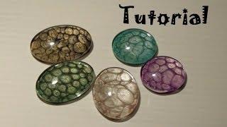getlinkyoutube.com-Tutorial: Come realizzare i cabochon sotto vetro con i colori Pebeo Prisme