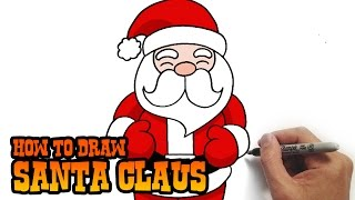 getlinkyoutube.com-How to Draw Santa Claus- Simple and Easy Lesson