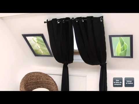 Barras de cortina para instalar en ventanas de techo.