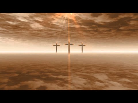 Jesus Christ - Christian Cross - Worship - Gold Heaven - Clouds - Sky - Video Background HD0927