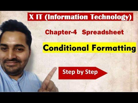 Class X | IT | # 1 | CBSE Board | Ch-4 Spreadsheet | Conditional Formatting