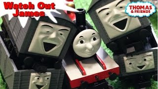 "getlinkyoutube.com-Thomas and friends ""Watch Out,James"" トーマス プラレール ガチャガチャ ジェームス注意して!"