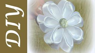getlinkyoutube.com-Очень легкий цветок канзаши