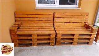 getlinkyoutube.com-How to Build a Pallet Sofa Step by Step