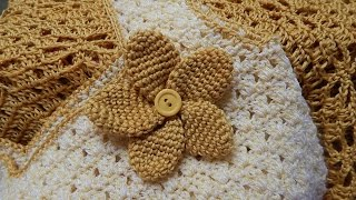getlinkyoutube.com-Flor # 10 para Vestido Circular Crochet