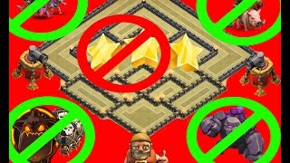 Anti 2 Star TH9 War Base /Double Air Sweeper