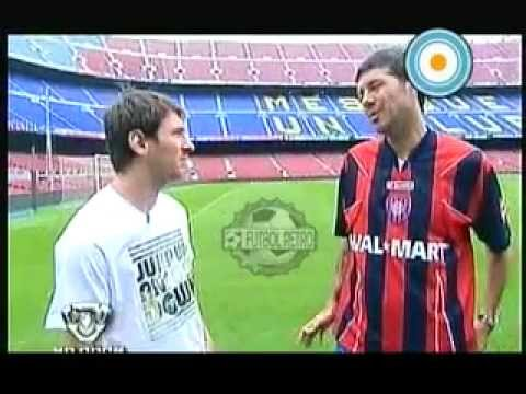 Messi y Tinelli en el  Camp Nou 2009 part1 FUTBOL RETRO TV