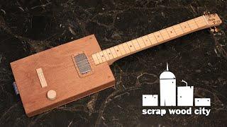 getlinkyoutube.com-How to make a cigar box style electric guitar