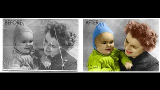 getlinkyoutube.com-How to Repair an Old Torn Photo in Photoshop | Photoshop Tutorial Spreed Art