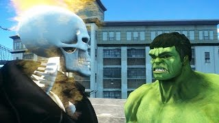 getlinkyoutube.com-GHOST RIDER VS HULK - EPIC BATTLE