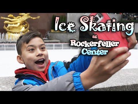 ICE SKATING in NEW YORK!!! World Famous Rockerfeller Center!