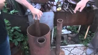 Печь Бубафоня из газового баллона. Хозяйство Кулешова В.И.