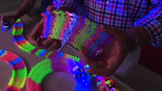 getlinkyoutube.com-Twister Trax 12ft Glow in the Dark Set w/ 2 Light-Up Cars with Rick Domeier