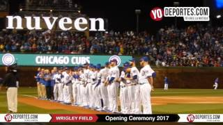 Chicago Cubs Wrigley Field Opening Ceremony