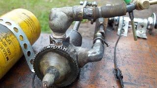 getlinkyoutube.com-Motor à gasolina caseiro, 2 tempos, ciclo Lenoir - Engine gasoline to homemade, 2 strokes