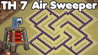 getlinkyoutube.com-Clash of Clans Town Hall 7 Defense With Air Sweeper (CoC TH7) Trophy Base & War Base Defense