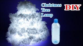 getlinkyoutube.com-Easy Crafts Ideas: Reuse Plastic Bottle for Best out of Waste DIY Christmas Tree Cloud Light Lamp😍
