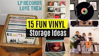 getlinkyoutube.com-15 Fun Vinyl record storage ideas
