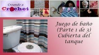 getlinkyoutube.com-Juego de baño (Parte 1 de 3): Cubierta del tanque - Tutorial de tejido crochet