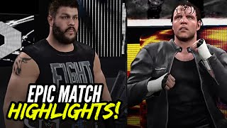 getlinkyoutube.com-WWE 2K16 Survivor Series 2015 Dean Ambrose vs. Kevin Owens | Epic Match Highlights!
