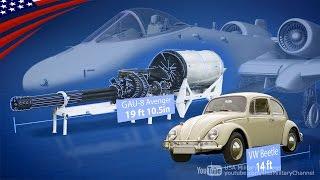 getlinkyoutube.com-自動車よりデカイ30mm砲で戦車を破壊する最強の戦車バスター:A-10サンダーボルトII攻撃機