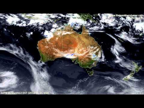 Australia Satellite & Radar Timelapse, January 2012