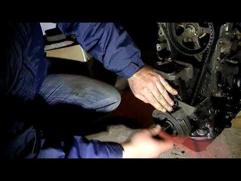 44 Снятие шкива коленвала двигателя Джили МК копия двгателя TOYOT A4 FE