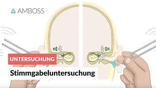 getlinkyoutube.com-Stimmgabeluntersuchungen nach Rinne und Weber - AMBOSS Video - Rinne-Versuch Weber-Versuch