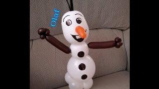 getlinkyoutube.com-Como hacer a olaf pequeño de frozen con globos