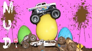 getlinkyoutube.com-SURPRISE EGGS MONSTER TRUCKS part 8 HOT WHEELS MONSTER JAM