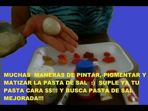 MUCHAS MANERAS DE PINTAR, PIGMENTAR O MATIZAR, MI SUPER PASTA DE SAL