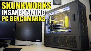 getlinkyoutube.com-Crazy Overkill Watercooled Gaming PC Benchmarks - Skunkworks