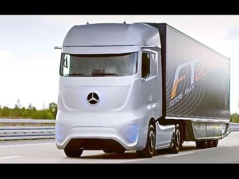 Xe đầu kéo tự lái của Mercedes trên đường thử