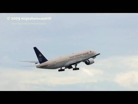 Saudi Arabian Airlines 777 TAKEOFF 23R | MAN